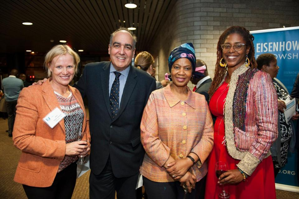 Anu Passi-Rauste, (Finland '14), George de Lama (president of Eisenhower Fellowships), Phumzile Mlambo-Ngcuka (executive director of UN Women), and me! Photo credit: Elias Williams